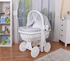 Waldin Bébé Chariot Enfants,Couchette Bébé,Complet avec Accessoire,Tissus Gris/