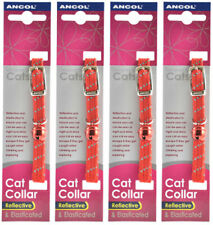 Ancol Reflective Softweave Cat Collar Red 4 Pack Deal