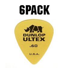 Jim Dunlop Ultex Standard Plectrum Players Pack - 6 Pack - .60mm