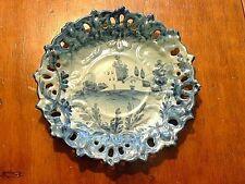 Vintage Italian Cantagalli HPTD Faience Pottery Plate With House Scene #2