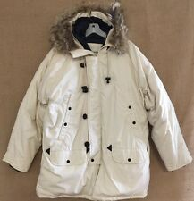 EXCALIBUR Hooded Goose Down Jacket Parka Coyote Fur Hood Size Large NWT