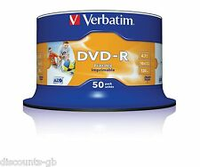 Verbatim 43533 dvd-r 4.7 go 16x imprimable - 50 pack spindle