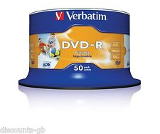 Verbatim 43533 DVD-R 4.7GB 16x Printable - 50 Pack Spindle