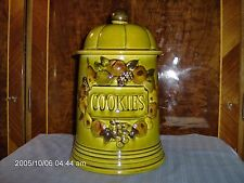 LOS  ANGELES  POTTERIES 1967  COOKIE  JAR BEAUTIFUL MADE IN USA