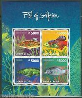 SIERRA LEONE 2014  FISH OF AFRICA SHEET  MINT NH