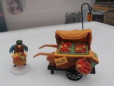 """Dept 56 Heritage Village """"Chelsea Market Fruit Monger & Cart"""" - Retired"""