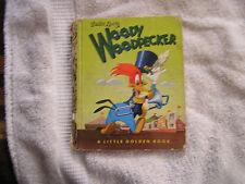 """Walter Lantz Woody Woodpecker Little Golden Book """"A"""" 1952"""