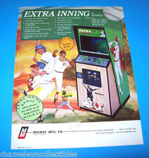 EXTRA INNING By MIDWAY 1975 ORIGINAL VIDEO ARCADE GAME MACHINE FLYER BROCHURE
