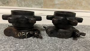 2 Lot 5 Lbs Vintage York Olympic Spin Lock Collars For Weight Bar  (10 pounds)