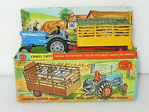 CORGI GIFT SET LABELLED 1 (WAS 33). FORD 5000 & BEAST CARRIER. LOVELY BOXED SET.