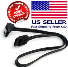 "18"" SATA 3.0 Cable 6GB/s Right Angle 90 Degree for DVD HDD Hard Drive Black NEW"