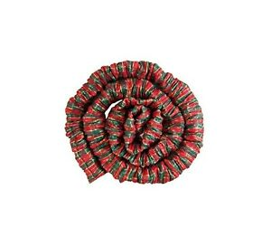 Christmas Plaid Flexible Fabric Coil Cord Concealer Cover for  Cords, 7 Ft