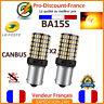 2 x ampoule CANBUS 144 LED BA15S 1156 P21W ORANGE Voiture Feux Jour Clignotant