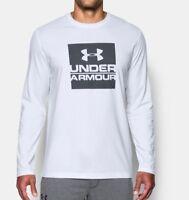 Under Armour Mens Boxed Logo Long Sleeve T-Shirt - WHITE - XL - NWT