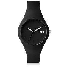 Ice-Watch Ola Damen-Armbanduhr ICE.BK.S.S.14 Analog Quarz Silikon Schwarz Weiß