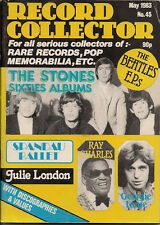 Record Collector Issue No 45 May 1983 rolling stones georgie fame beatles UK Mag