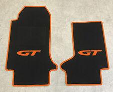 Autoteppich Fußmatten für Opel GT Cabrio schwarz orange ab 2007' Neuware 2teilig