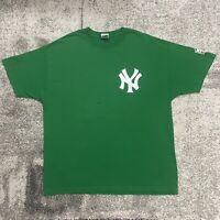 Majestic MLB New York Yankees Joba Chamberlain  Green Baseball Shirt Mens 2XL