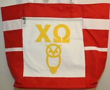 CHI OMEGA Canvas Shoulder Tote Bag - BRAND NEW