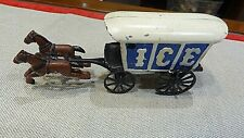 Vintage Cast Iron Toy  ICE Coach With Horses