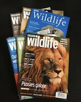 BBC Wildlife Magazine Animals Nature Conservation - Great Lot Of 6 Issues (C)