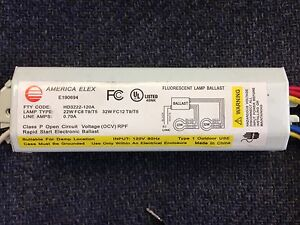 10 PIECES AMERICA ELEX HD3222-120A 120V COMBINATION 22W FC8 T9/T5 32W FC12 T9/T5