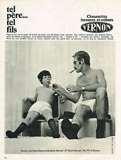 PUBLICITE ADVERTISING 074  1969  VERNON  chaussettes hommes & enfants
