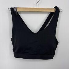 NANETTE LEPORE Bra Size XL Sports Black Lightly Padded Medium Support New No TAG
