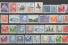 Q7086 - SVEZIA - 1966 - LOTTO USATI DIFFERENTI - VEDI FOTO