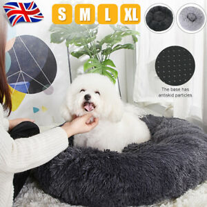 S/M/L/XL Luxury Plush Calming Pet Bed Fluffy Soft Donut Nesting Anxiety Dog Bed