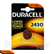 1 x Duracell Lithium CR2430 3V Coin Cell battery DL2430 ERC2430 K2430L EXP:2025