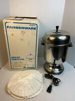 Vintage Farberware 155A Automatic Percolator Coffee Urn 12 - 55 Cup with Filters