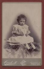 Preston. Cardwell. 130a Church Street. Young Girl  cabinet   photograph qd206