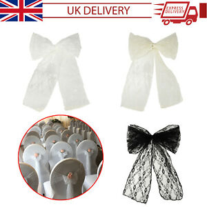 Lace Chair Sash Bow Tie DIY Fabric Vintage Style Wedding Banquet Art Craft Event