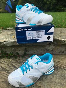 Babolat Tennis Shoe - Propulse Team 4 Womens UK 5 EUR 38 New in Box! Wht/Blue