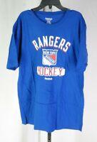 New York Rangers Reebok Large Short Sleeve Shirt Blue T3