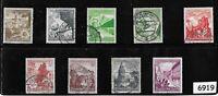 #6919    Complete 1938 Winter Relief stamp set / Third Reich era Germany