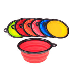 Outdoor Home Silicone Pet Dog Water Food Feeding Bowl Foldable Dish Feeder