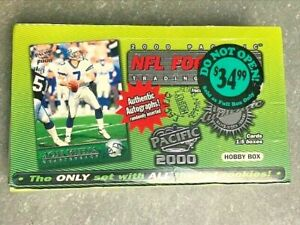 2000 PAcific Sealed Football HOBBY Box BRADY SSP Autographs 36ct RARE Find