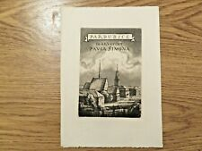 More details for vintage bookplate/etching by pavel simon/1920-1958/