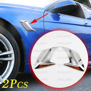 2PC Universal Accessories Air Vent Inlet Decoration Parts For Car Body Side Trim
