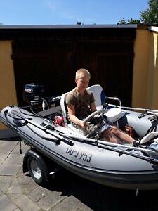 schlauchboot MERCURY 320 mit motor 15 PS mit Lenkrad und Handschaltung gebraucht
