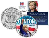 HILLARY CLINTON First Woman U.S. Presidential Nominee 2016 JFK Half Dollar Coin