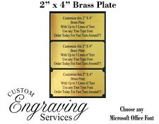 2X4 Customized Brass Plate Picture Plaque Name Tag Trophy Flag - PREMIUM QUALITY
