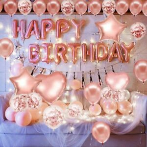 Baby One Year Old Birthday Balloons Happy Birthday Letter Balloons Package Decor
