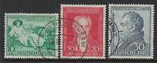 Germany Scott B306-B308 / Michel 108-110: 1949 von Goethe set of 3, VF-CDS