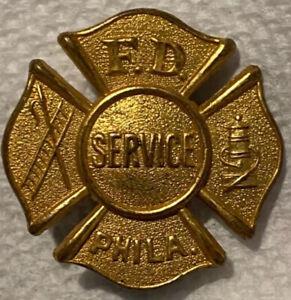Early Obsolete Service Philadelphia Fire Dept. Badges