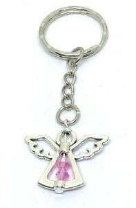October Birthstone Guardian Angel Keyring lucky charm keepsake gift safety