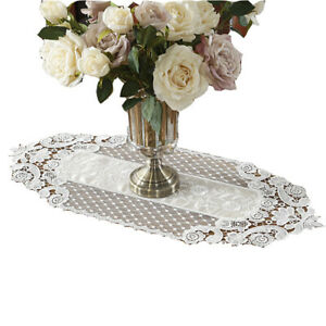 Romantic Table Runner Lace Floral Embroidery Home Practical Dining Room Party