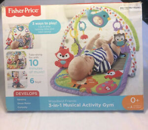 3-In-1 Fisher-Price Woodland Friends Musical Activity Gym Toy Infant Musical Toy
